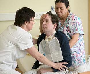 Spezielle Pflege eines Patienten
