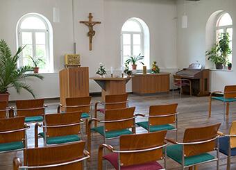 Kapelle für Gottesdienste im Gesundheitszentrum