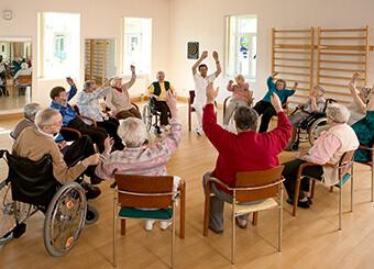 Bewegungsgruppe im Gesundheitszentrum